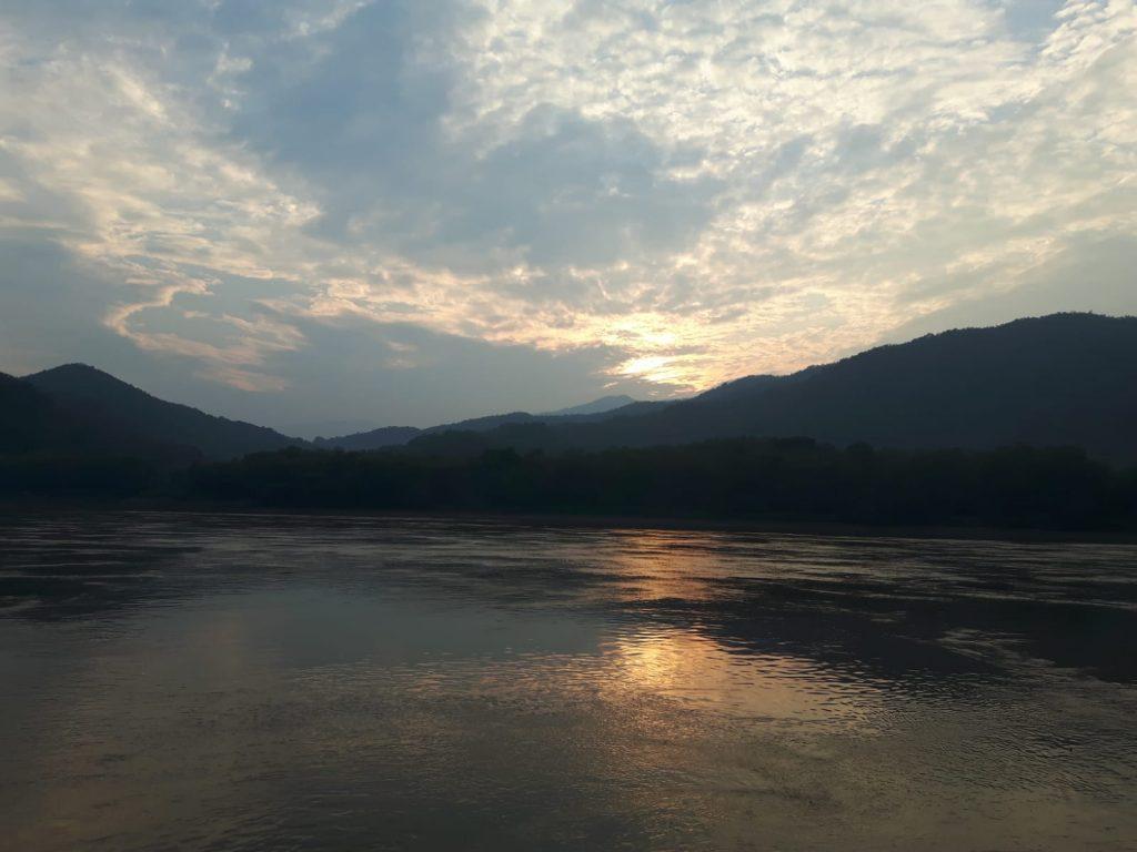 Sonnenuntergang Mekong
